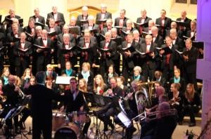 foto koor en orkest, Nachtegalen e.a. Kerstconcert Varsseveld 221214